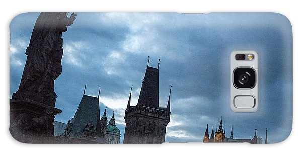 Galaxy Case featuring the photograph Night Along The St. Charles Bridge by Matthew Wolf