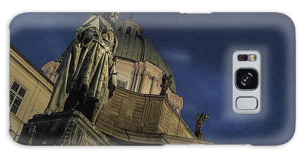 Galaxy Case featuring the photograph Night At The Foot Of St. Charles Bridge by Matthew Wolf