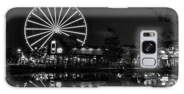 Night At The Island In Black And White Galaxy Case