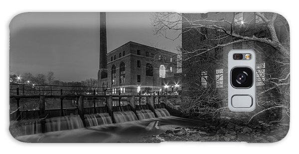 Night At The River 2 In Black And White Galaxy Case