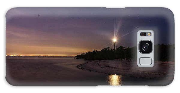 Night At The Sanibel Lighthouse Galaxy Case