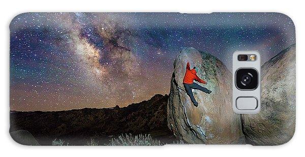 Night Bouldering Galaxy Case by Evgeny Vasenev