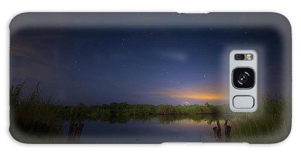 Night Brush Fire In The Everglades Galaxy Case
