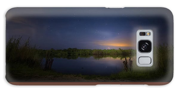 Night Brush Fire In The Everglades Galaxy Case by Mark Andrew Thomas