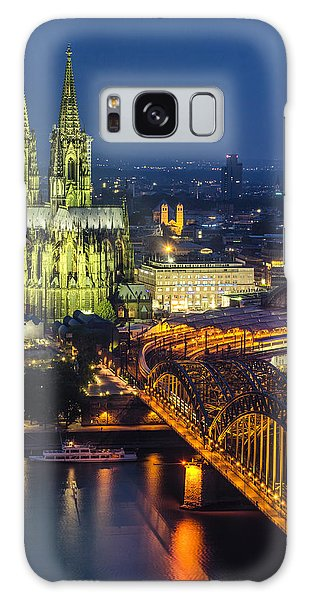 Night Falls Upon Cologne 1 Galaxy Case