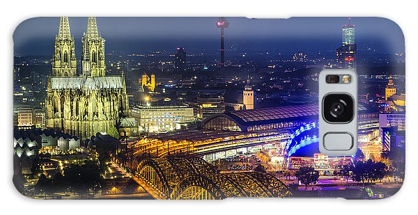 Night Falls Upon Cologne 2 Galaxy Case