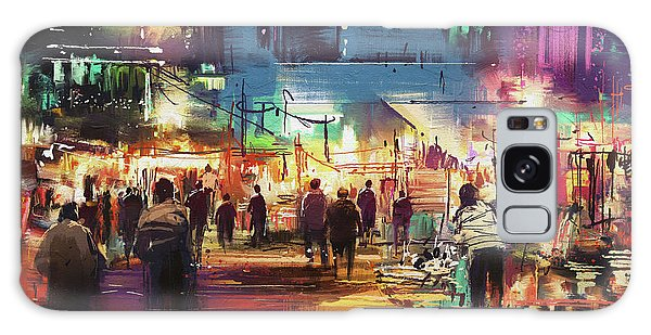 Night Market Galaxy Case