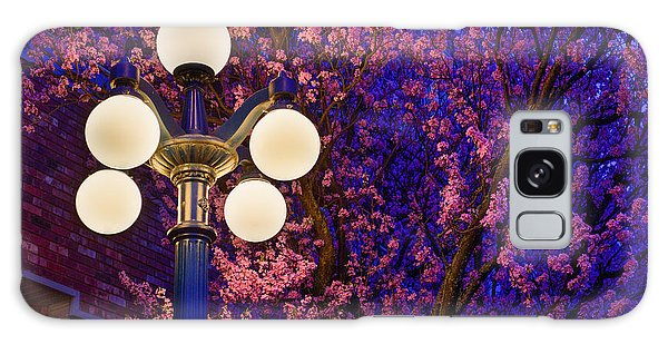 Night Of The Cherry Blossoms Galaxy Case by Keith Boone