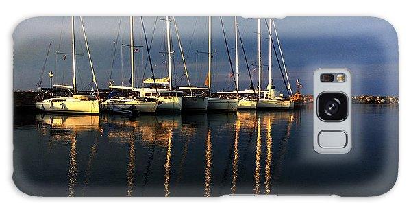 Night On Paros Island Greece Galaxy Case