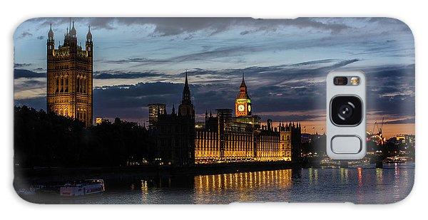 London Eye Galaxy Case - Night Parliament And Big Ben by Mike Reid