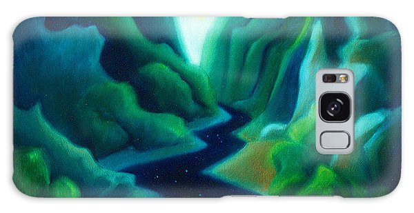 Night River Galaxy Case by Angela Treat Lyon