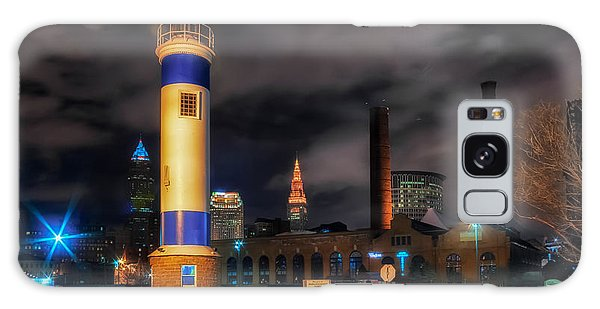 Night Scene Of The Old Powerhouse In Cleveland Galaxy Case
