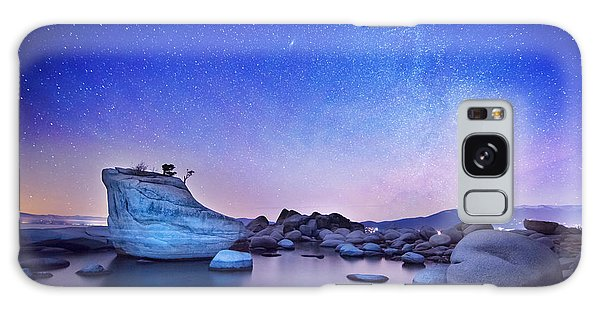 Night Shine , Bonsai Rock Lake Tahoe Galaxy Case