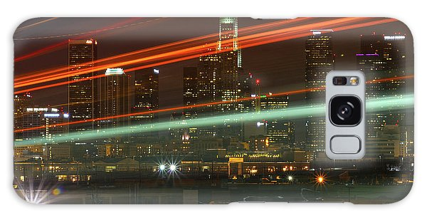 Night Shot Of Downtown Los Angeles Skyline From 6th St. Bridge Galaxy Case
