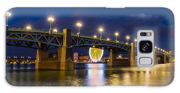 Night Shot Of The Pont Saint-pierre Galaxy Case by Semmick Photo