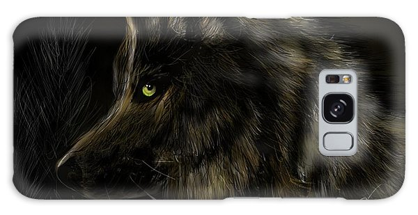 Night Silent Wolf Galaxy Case