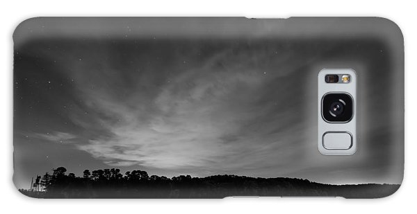 Night Sky Over The Lake In Black And White Galaxy Case