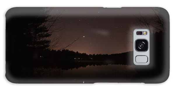 Night Sky Over The Pond Galaxy Case