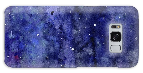 Outer Space Galaxy Case - Night Sky Watercolor Galaxy Stars by Olga Shvartsur