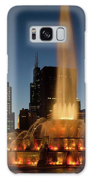 Night Time Fountain Galaxy Case