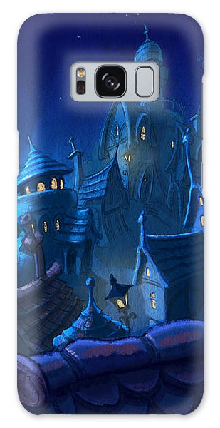 Night Town Galaxy Case by Andy Catling