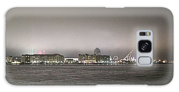 Night View Ocean City Downtown Skyline Galaxy Case