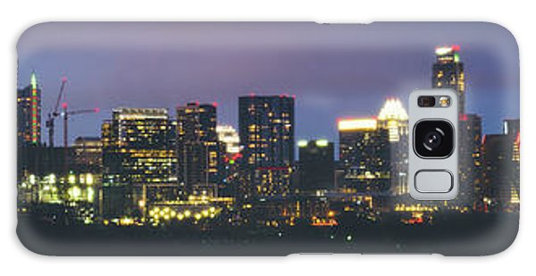 Night View Of Downtown Skyline In Winter Galaxy Case