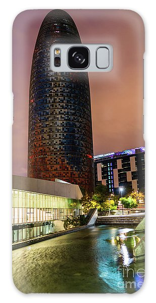 Night View Of Torre Agbar Galaxy Case