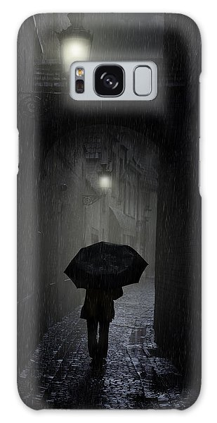 Night Walk In The Rain Galaxy Case