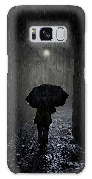 Night Walk In The Rain Galaxy Case