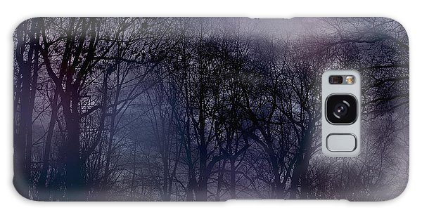Nightfall In The Woods Galaxy Case by Sandy Moulder