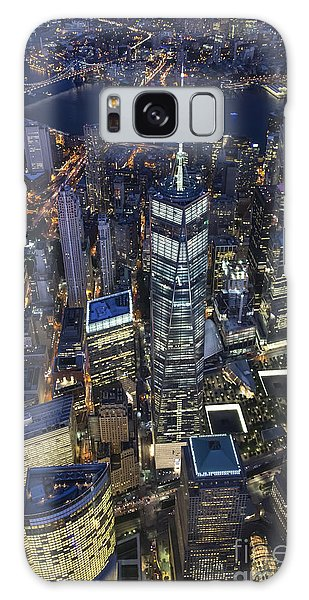 Nighttime Aerial View Of 1 Wtc Galaxy Case