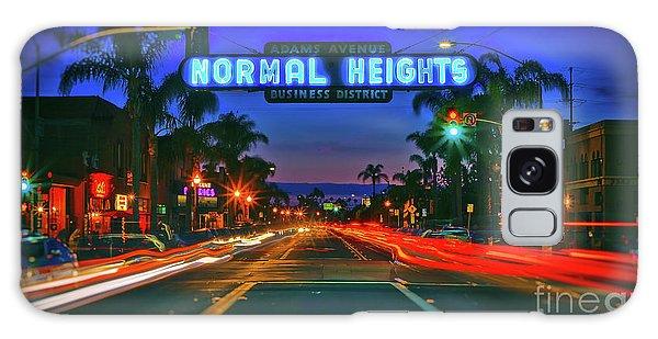 Nighttime Neon In Normal Heights, San Diego, California Galaxy Case