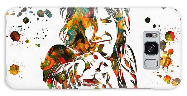 Alice Cooper Galaxy Case - Nikki Sixx Paint Splatter by Dan Sproul