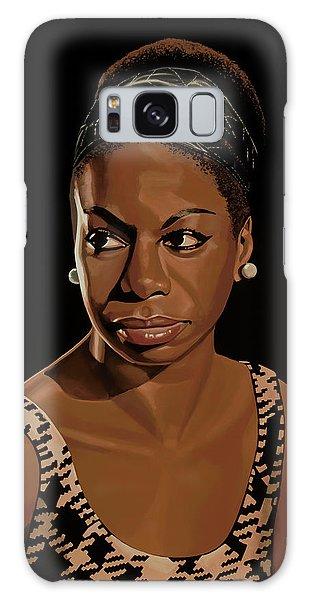 Rhythm And Blues Galaxy S8 Case - Nina Simone Painting 2 by Paul Meijering
