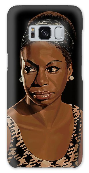 Rhythm And Blues Galaxy S8 Case - Nina Simone Painting 2 by Paul Meijering