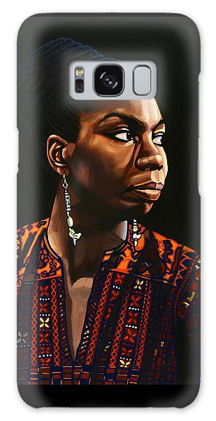 Broadway Galaxy Case - Nina Simone Painting by Paul Meijering