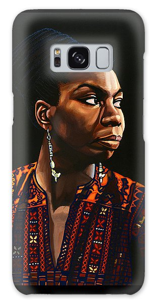 Rhythm And Blues Galaxy S8 Case - Nina Simone Painting by Paul Meijering
