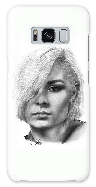 Galaxy Case - Nina Nesbitt Drawing By Sofia Furniel by Jul V