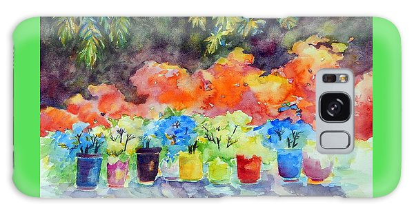 9 Potted Plants Galaxy Case