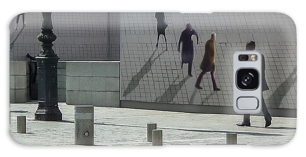 Nine Pedestrians At Place Vendome Galaxy Case