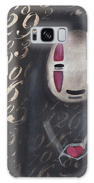 No Face With A Heart Galaxy Case by Abril Andrade Griffith