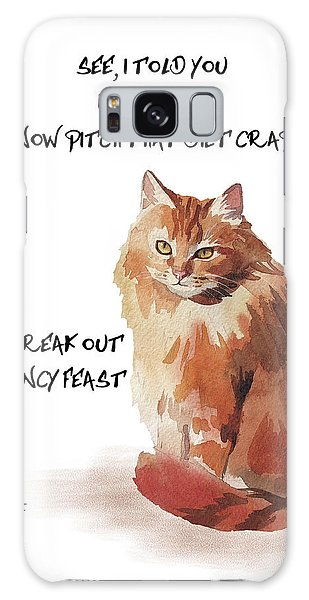 No Fat Cat Galaxy Case