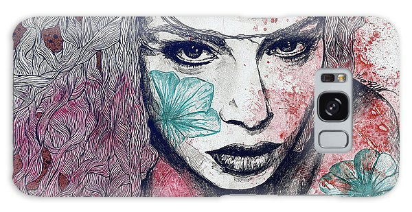 Beautiful Girl Galaxy Case - No Hope In Sight - Purple by Marco Paludet
