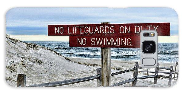 No Lifeguards On Duty Galaxy Case by Paul Ward