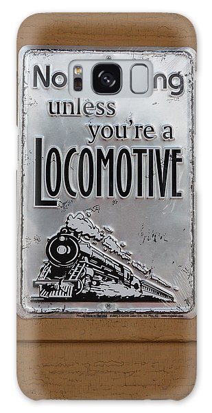 No Smoking Unless Youre A Locomotive Galaxy Case by Suzanne Gaff