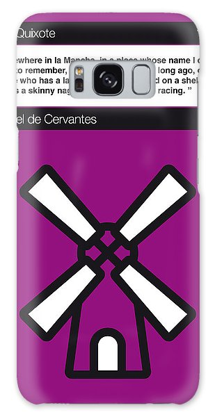 No027-my-don Quixote-book-icon-poster Galaxy Case