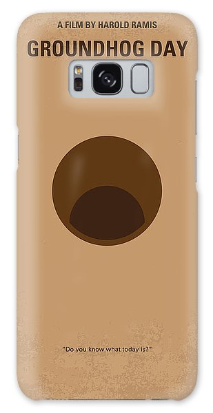 No031 My Groundhog Minimal Movie Poster Galaxy Case
