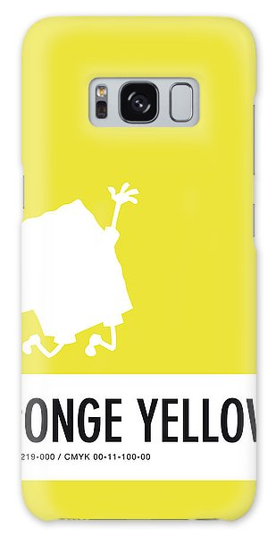 Woodpecker Galaxy S8 Case - No10 My Minimal Color Code Poster Spongebob by Chungkong Art