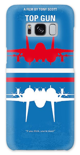 No128 My Top Gun Minimal Movie Poster Galaxy Case by Chungkong Art